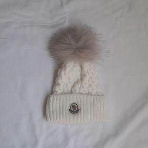 Moncler kids white hat
